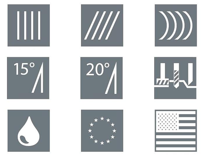 Pictogramme pièces-standard