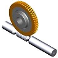 Jeux de roues à vis sans fin intégrés pour un fonctionnement haute performance